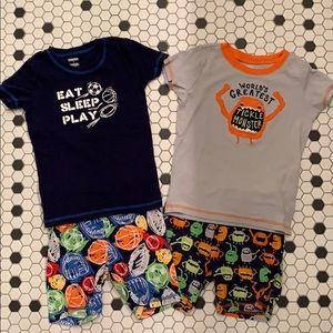 Gymboree Cotton Gymmie Pajamas Sleep Shorts Boys 7